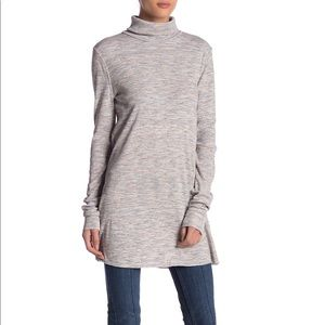 NWT Free People Stone Cold Gray Turtleneck Top